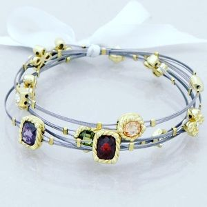 Jewelry - Multi Cable bracelets embellished in gemstones